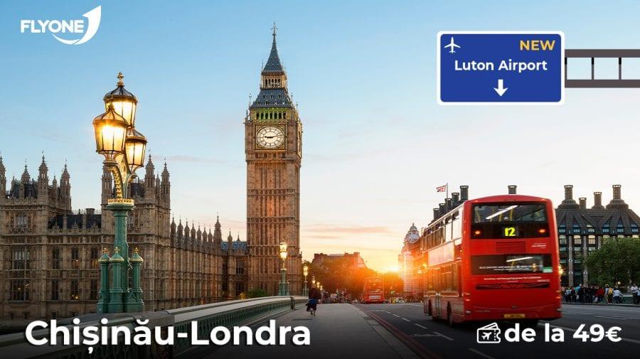 FLYONE lansează zboruri directe spre orașul Luton, Londra de la 49 EURO!