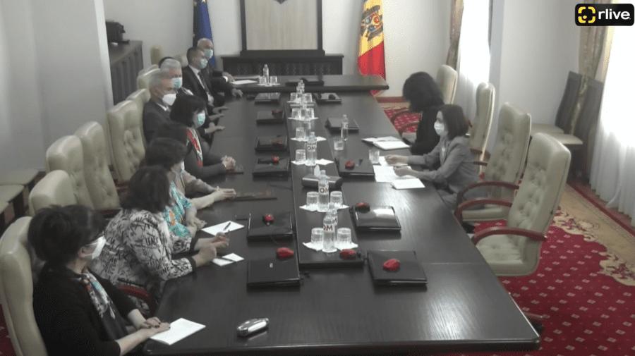(VIDEO) Surpriza la CSM! Maia Sandu, în vizită la magistrații Consiliului Superior al Magistraturii