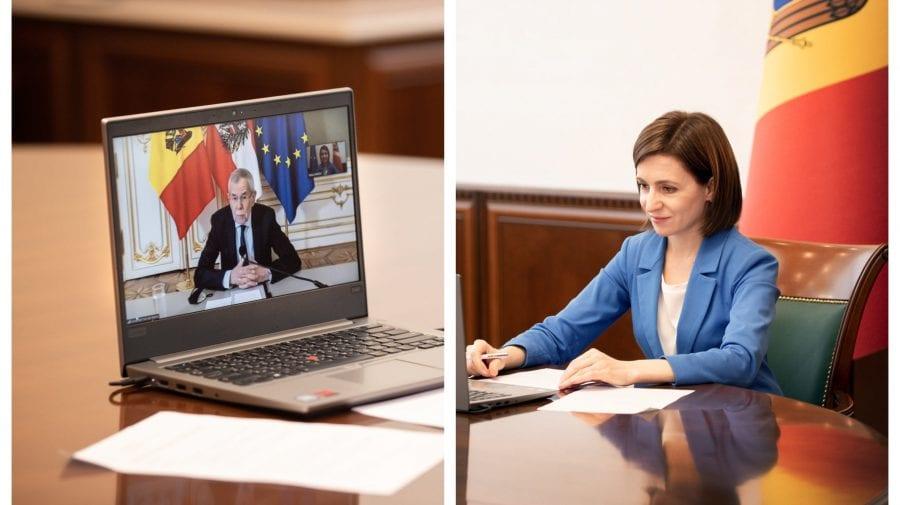 Sandu va merge la Viena, iar președintele Austriei ar urma să vină la Chișinău. Discuție online între șefii de stat