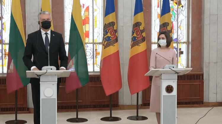 Sandu l-a primit în vizită pe președintele Lituaniei. Un subiect discutat: convertirea permiselor de conducere