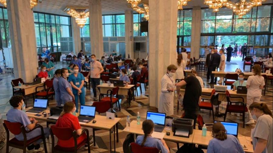 Maratonul Vaccinării continuă și astăzi la Palatul Republicii