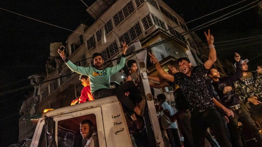 Pace între Israel și Fâșia Gaza. Palestinienii au ieșit să se bucure în stradă