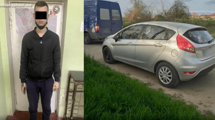 (VIDEO) S-a îmbătat criță și a furat un automobil. Ce pedeapsă îl paște pe un tânăr de 22 de ani din Capitală