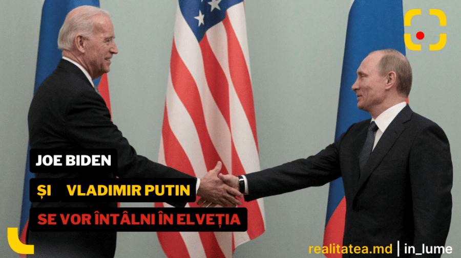 CNN: Întrevederea dintre Vladimir Putin și Joe Biden va avea loc pe 15 – 16 iunie, în Elveția