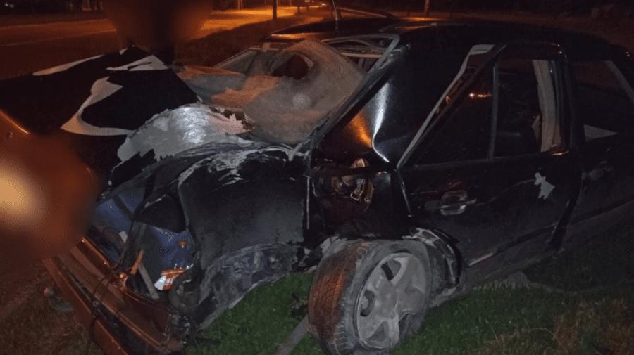 (FOTO) Accident de groază în Capitală! Șoferul a rămas în viață ca prin minune după impact