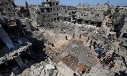 (FOTO) Israelul a lansat cel mai mare atac aerian din Fâșia Gaza. Ruinele din urma bombardamentului