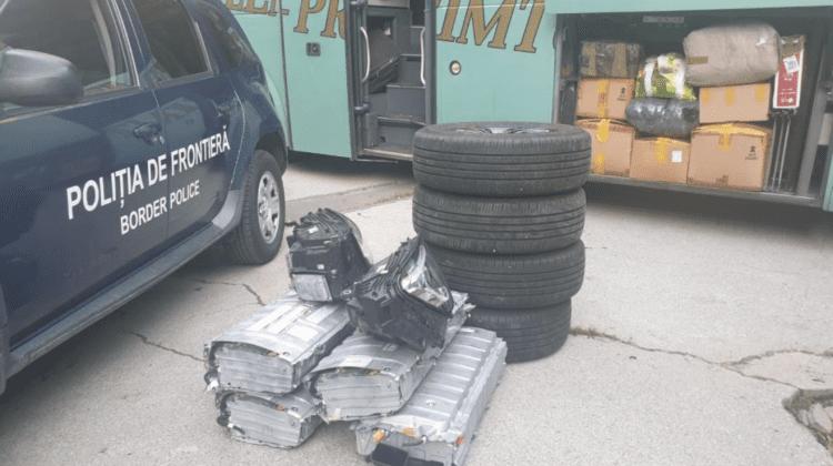 Piese auto uzate, transportate ilegal. Valoarea totală a fost estimată la 100 mii de lei