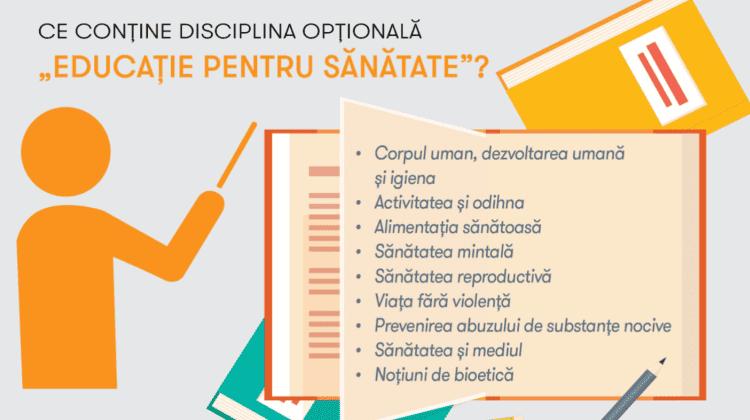 """""""Educație pentru sănătate"""", disciplina opțională care îi va ajuta pe elevi să adopte un mod de viață sănătos"""
