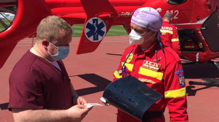 (FOTO, VIDEO) Intervenție aero-medicală SMURD. Tânăr de 21 de ani, transportat de urgență la Chișinău
