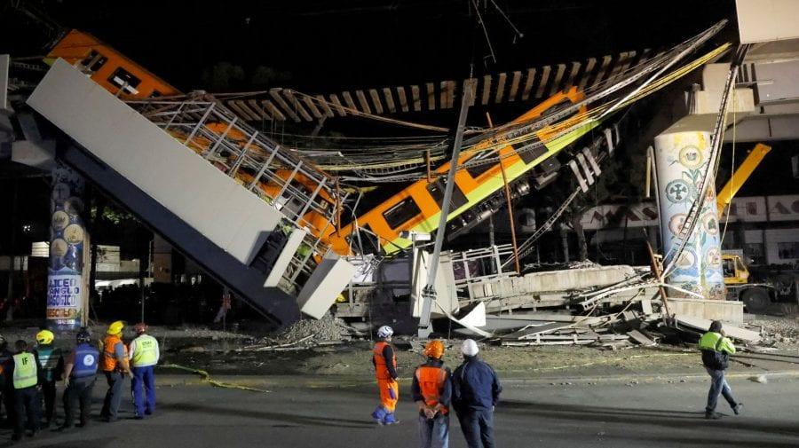 (VIDEO) 20 morţi şi 49 de persoane spitalizate după prăbuşirea unui pod pe o linie de metrou din Mexic