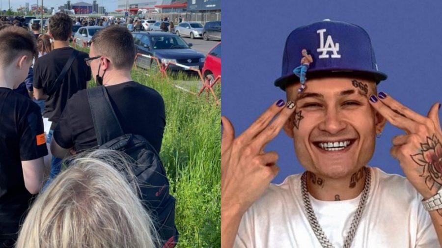 (VIDEO 18+) Morgenshtern e la Chișinău! S-a format o coadă imensă de fani. Sunt și minori