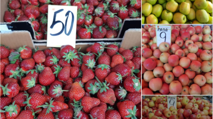 (FOTO) Prețurile la Piața Centrală: Un kilogram de cireșe ajunge până la 150 de lei, iar căpșunile s-au ieftinit