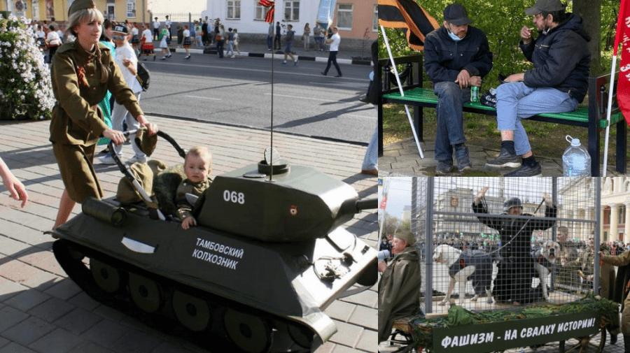 Reportaj NO COMMENT pe Disinfo.md, despre propaganda rusească de 9 Mai, în imagini