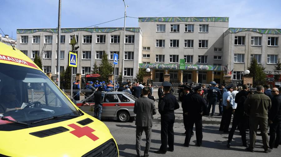 """Împușcăturile de astăzi de la o școală din Rusia, """"un atac terorist îndreptat împotriva copiilor"""""""