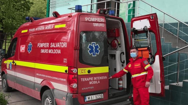 (FOTO) Intervenție SMURD: O femeie a fost transportată din Ucraina la Chișinău