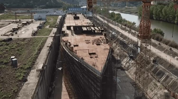 (FOTO, VIDEO) Chinezii pregătesc o replică exactă pentru TITANIC. Etapa la care se află construcția