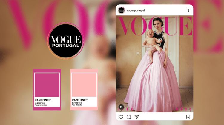 """Roz și un bebeluș în brațe care plânge… Ce vrea să spună noua copertă a revistei """"Vogue"""" (VIDEO)"""