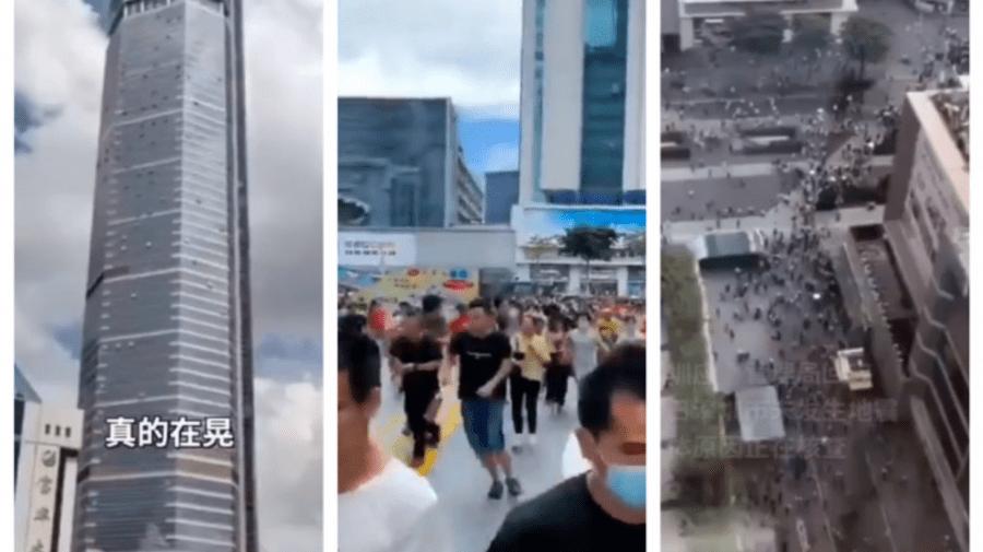 (VIDEO) Momentul în care un zgârie-nori din China se clatină puternic. Oamenii aleargă îngroziți pe străzi