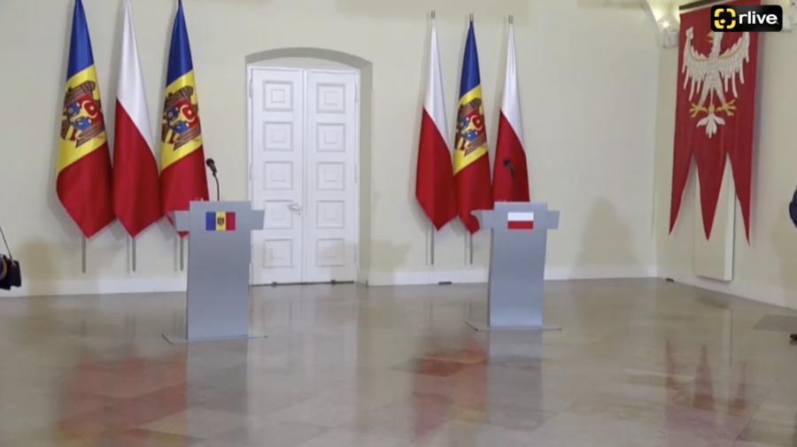 LIVE de la Palatul Prezidențial din Varșovia! Maia Sandu și Andrzej Duda fac declarații de presă