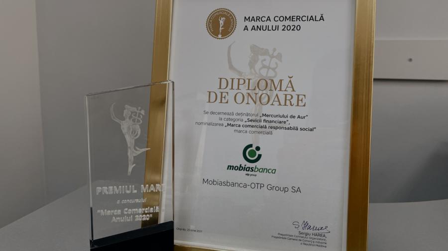 Mobiasbanca – OTP Group premiată cu Mercuriul de Aur – Recunoașterea pentru implicarea socială