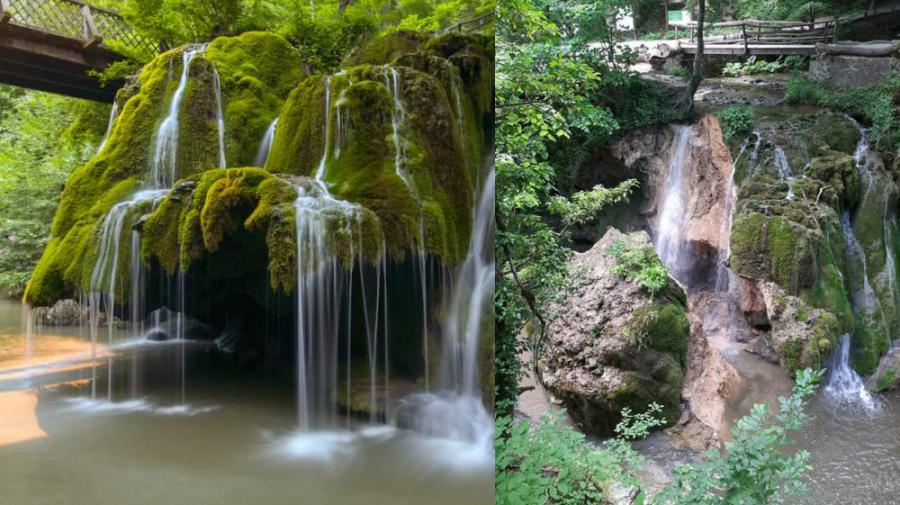 (FOTO) Cascada Bigăr, unul dintre cele mai frumoase obiective turistice din România, s-a prăbușit