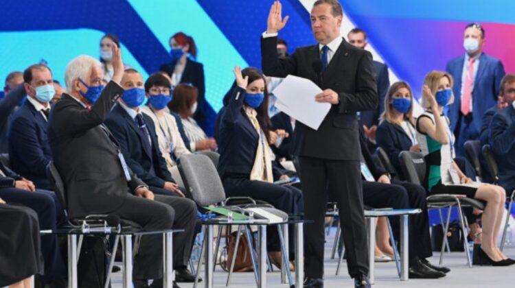 VIDEO Medvedev, care-și dorea să fie din nou a doua persoană în stat după Putin, a fost umilit
