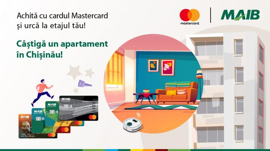Te invităm la nivelul următor. Cardul Mastercard de la MAIB îți poate aduce un apartament cadou!