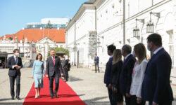 VIDEO Maia Sandu, la Varșovia: Primirea călduroasă e o dovadă a deschiderii țării dumneavoastră