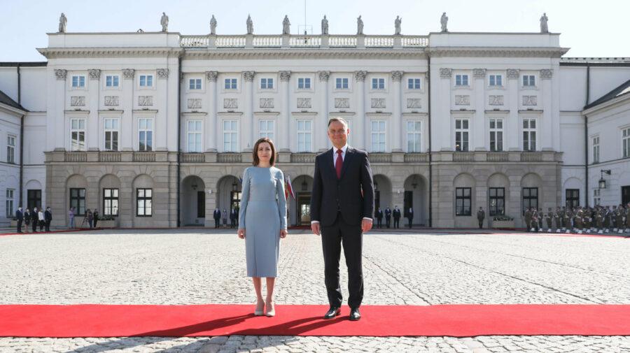 VIDEO Președintele Poloniei: Această vizită are o semnificație mare. Demult nu am avut președintele RM în țara noastră