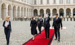FOTO Primele imagini cu președinta Maia Sandu pe covorul roșu de la Roma