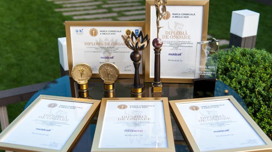 Compania Moldcell – premiată cu 5 distincții pentru înaltă performanță la Marca Comercială a Anului 2020