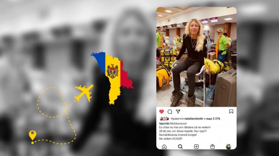 """Prima femeie din Moldova care a cucerit Everestul revine acasă! """"Eu chiar nu mai am răbdare să ne vedem"""""""