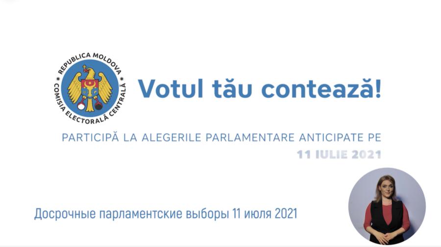 """VIDEO """"Votul tău contează"""". Îndemnul CEC către cetățeni cu 12 zile înainte de ziua alegerilor"""