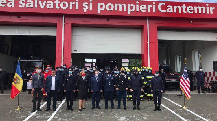 (FOTO) Pompierii vor fi mai aproape de locuitorii din Cantemir! În teritoriu a fost inaugurată o stație IGSU