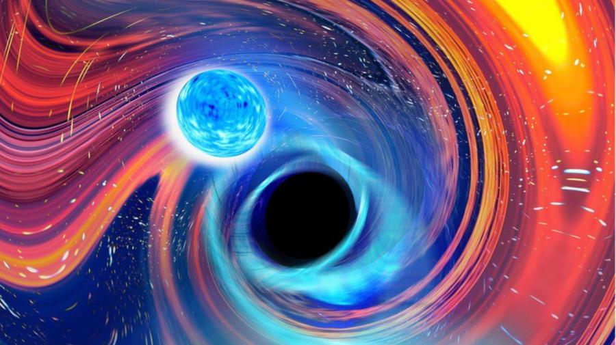 """Ciocniri rare între """"monștrii"""" astronomici au fost descoperite. Găuri negre masive au """"înghițit"""" două stele neutronice"""