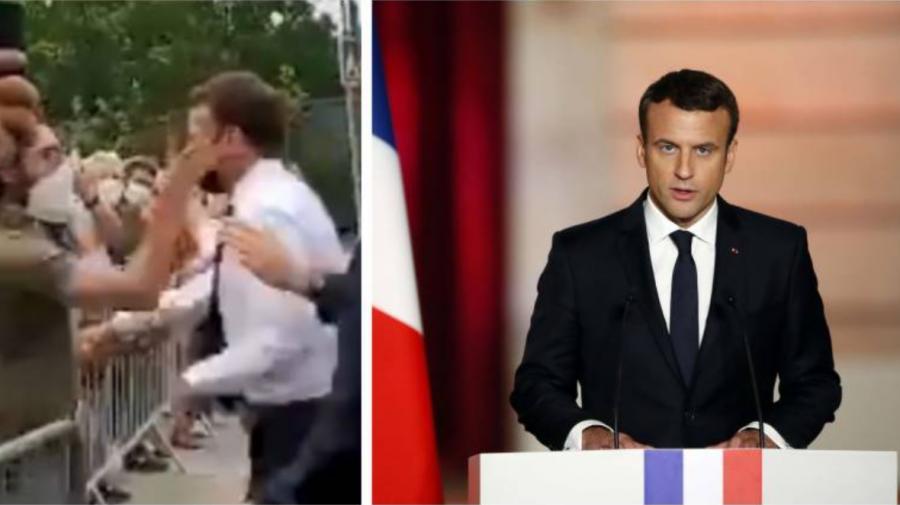 (VIDEO) Incredibil! Momentul în care președintele Emmanuel Macron a primit o PALMĂ peste față de la un cetățean
