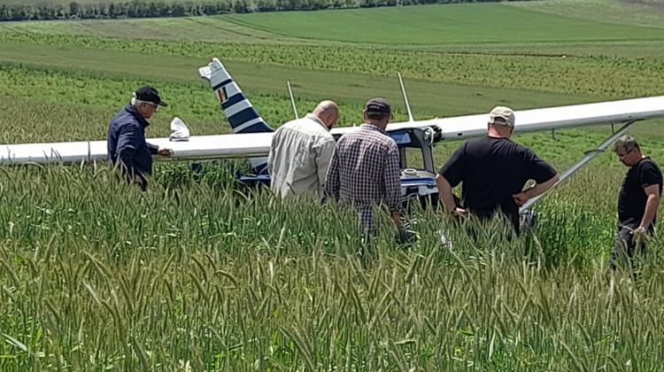 Galerie foto de la locul accidentului aviatic din localitatea Găureni, raionul Ialoveni