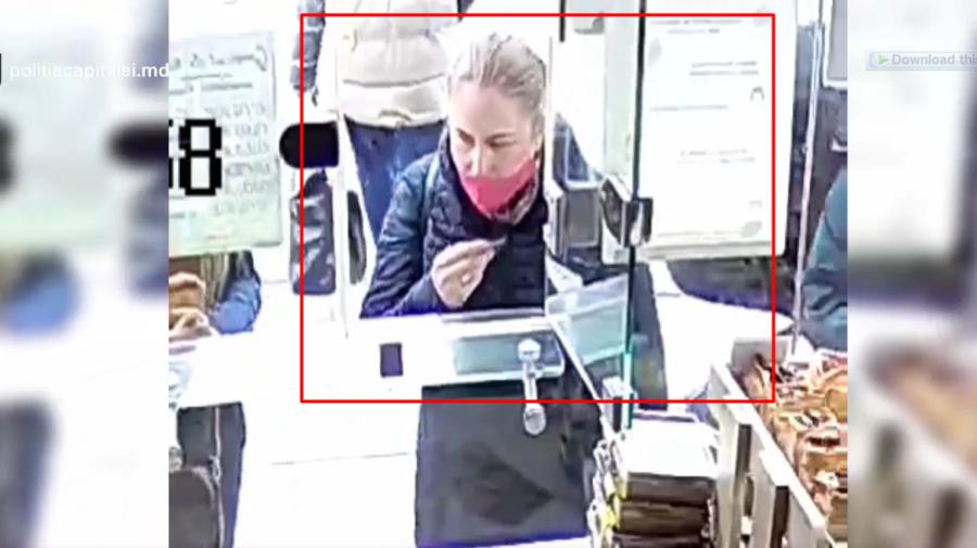 VIDEO A furat un portmoneu. Femeia din imagini, căutată de Poliție