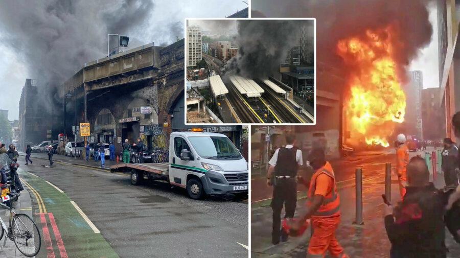 VIDEO FOTO O explozie puternică a zguduit și a umplut de fum o stație de metrou din sudul Londrei. Zona a fost evacuată