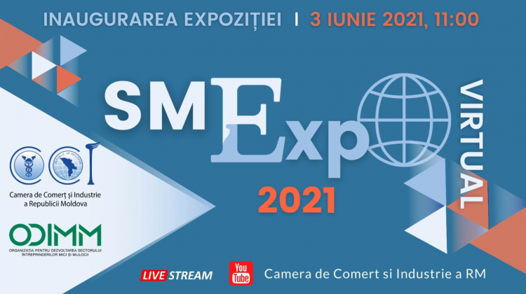 """CCI a RM și ODIMM inaugurează Expoziția Virtuală """"SMExpo 2021″. Reprezentanții mass-media sunt invitați să participe"""