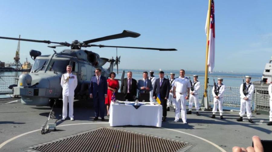 Ucraina și Marea Britanie au convenit asupra construcției comune a navelor de război