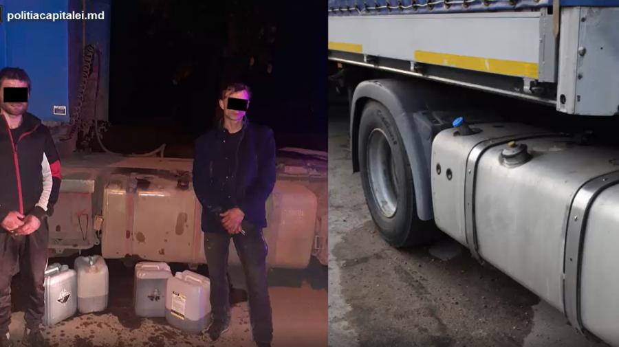 (VIDEO) Doi indivizi din Capitală riscă până la patru ani de pușcărie pentru că au furat motorină