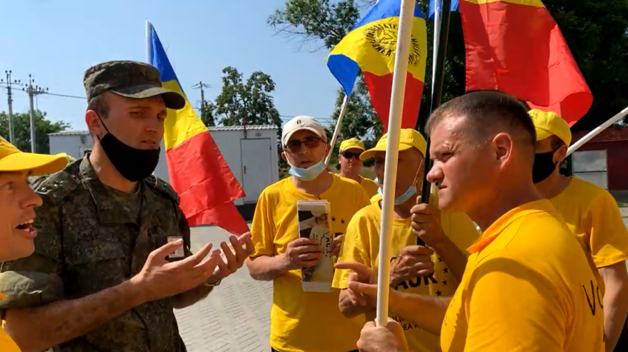 FOTO/VIDEO AUR își mai încearcă o dată norocul. Încearcă să ajungă la Tighina, însă separatiștii i-au stopat