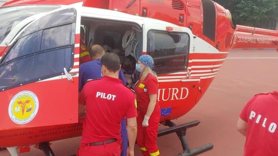 Intervenția aero – medicală SMURD: Bărbat din Ocnița, transportat la Chișinău