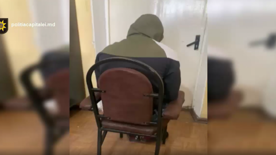 (VIDEO) Tânăr reținut de polițiști pentru comiterea unui jaf stradal