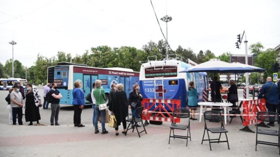 Vaccinarea pe roți este pe sfârșite! Astăzi, troleibuzul se află la Ciocana, iar autobuzul la Trușeni
