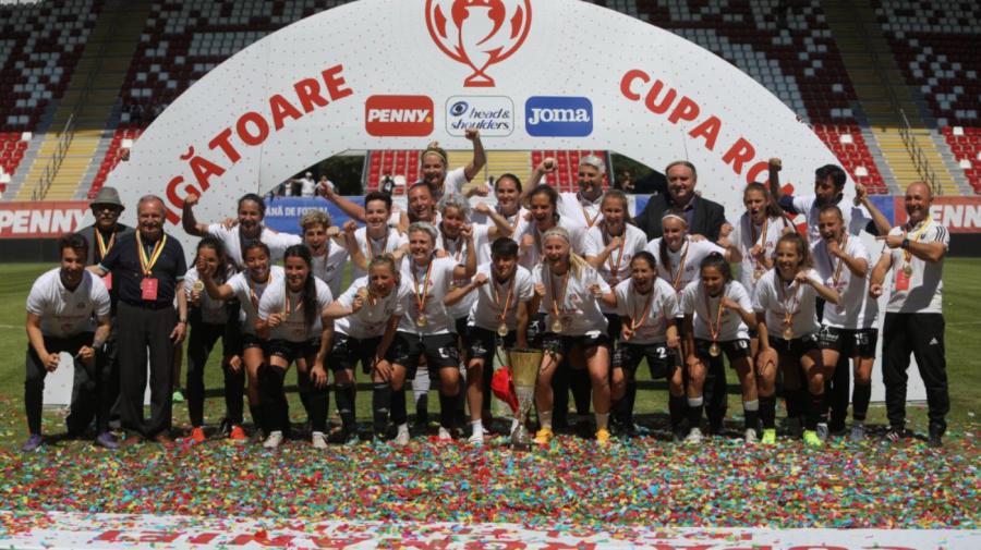 Naționala feminină de fotbal: Cristina Cerescu și Carolina Țabur au câștigat Cupa României