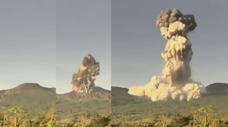 Momentul unic în care erupe un vulcan din Costa Rica, surprins VIDEO. Cenușa s-a ridicat la 2km înălțime