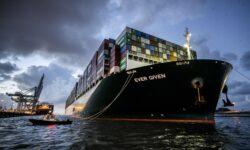 FOTO Spectaculos! Uriașa navă cargo care a blocat Canalul Suez a ajuns în portul Rotterdam