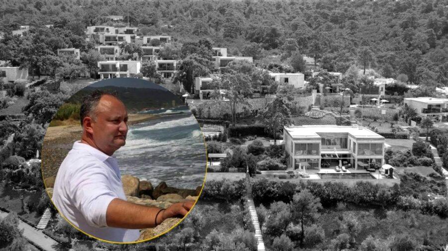 FOTO Luxul în care se odihnește Dodon în Turcia. Merg bodyguarzii pe plajă după el!